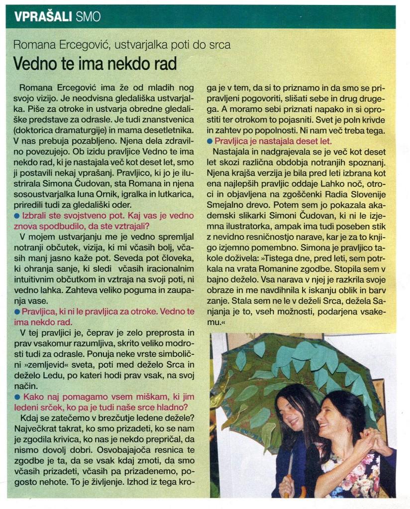 Revija Zarja, Urška Krišelj